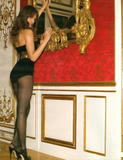 Jessica Alba in black corset and black stockings showing off her body in photoshoot for a Gotham Magazine - Hot Celebs Home