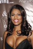 Omarosa Manigault-Stallworth shows great cleavage @ Claudia Jordan's 35th Birthday Bash, April 13